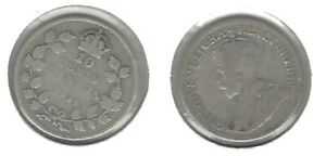 CANADIAN 1934 DIME .800 SILVER COIN .. TAKE A LOOK