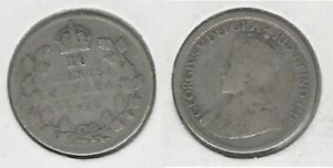 CANADIAN 1930 DIME .800 SILVER COIN .. TAKE A LOOK
