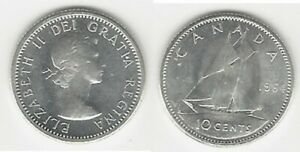CANADIAN 1964 BU/UNC DIME .800 SILVER COIN..TAKE A LOOK