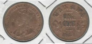 CANADIAN 1921 GEORGE V  CENT    TAKE A LOOK