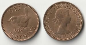 1953 GREAT BRITAIN FARTHING COIN