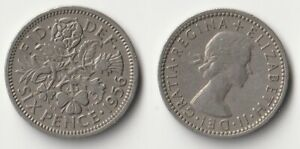 1956 GREAT BRITAIN SIXPENCE COIN