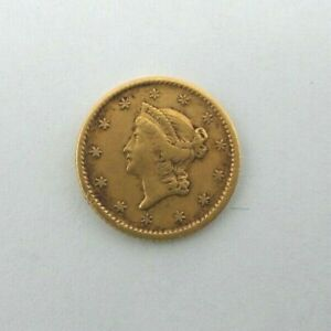 1851 P LIBERTY HEAD GOLD G$1 ONE DOLLAR COIN  V511