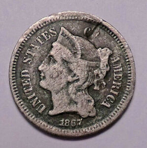 1867 3 CENT NICKEL
