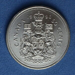 CANADA 1996 HALF DOLLAR  50 CENTS  FROM A MINT ROLL