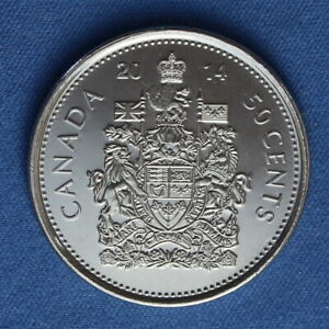 CANADA 2014 HALF DOLLAR  50 CENTS  FROM A MINT ROLL