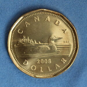 CANADA 2008 LOONIE  ONE DOLLAR  FROM A MINT ROLL