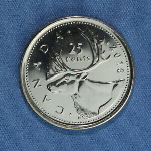 CANADA 2016 QUARTER  25 CENTS  FROM A MINT ROLL