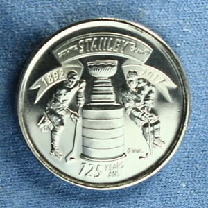 CANADA 2017 SPECIAL STANLEY CUP 125TH ANNIVERSARY QUARTER FROM A MINT ROLL