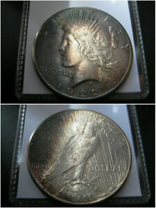 1922   S   PEACE SILVER DOLLAR CHOICE AU COIN  NICE ORIGINAL TONED