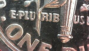 1960 PROOF CAMEO ROOSEVELT DIME DDR 001 ERROR DOUBLE DIE REVERSE MINT ERROR COIN
