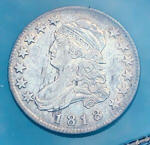 1818 CAPPED BUST QUARTER TYPE 1  U.S. .25 CENT COIN