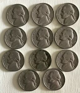 LOT OF 11 US NICKELS YEARS 1956 1960