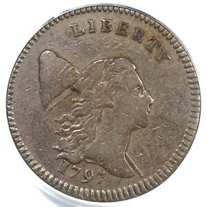 Click now to see the BUY IT NOW Price! 1797 C 3B R 4 PCGS VF 20 LETTERED EDGE LIBERTY CAP HALF CENT COIN 1/2C