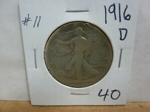 1916 D WALKING LIBERTY SILVER HALF DOLLAR 11