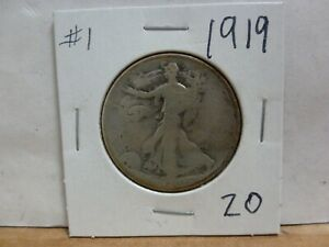 1919 WALKING LIBERTY SILVER HALF DOLLAR 1