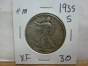1935 S WALKING LIBERTY SILVER HALF DOLLAR 10
