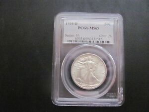 Click now to see the BUY IT NOW Price! U.S. 1934 D PCGS LIBERTY WALKING HALF MS 65 WHITE