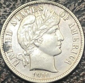 Click now to see the BUY IT NOW Price! 1910 D BARBER DIME BU   FULL MINT LUSTER EASY 64 BEST U.S. $.10 SILVER COIN