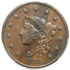 Click now to see the BUY IT NOW Price! 1839/6 N 1 R 3 PCGS VF 30 MATRON OR CORONET HEAD LARGE CENT COIN 1C