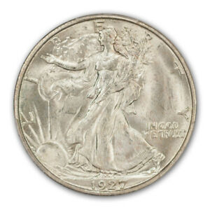 Click now to see the BUY IT NOW Price! 1927 S 50C WALKING LIBERTY HALF DOLLAR PCGS MS65   CAC