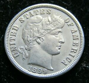 1899 S BARBER DIME UNCIRCULATED