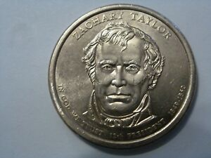 2009 D ZACHARY TAYLOR 12TH PRESIDENTIAL U.S. ONE DOLLAR COIN