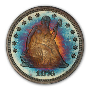 Click now to see the BUY IT NOW Price! 1876 25C LIBERTY SEATED QUARTER PCGS PR68  CAC