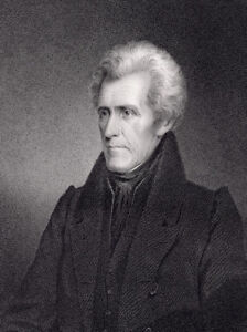 7TH PRESIDENT ANDREW JACKSON ENGRAVING OLD HICKORY JAMES LONGACRE SCULPTOR