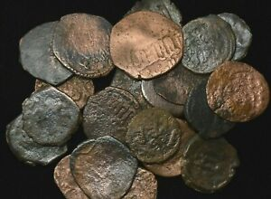 1000 YEARS OLD UMAYYAD ISLAMIC COINS   MEDIEVAL   COPPER   GOOD CONDITION