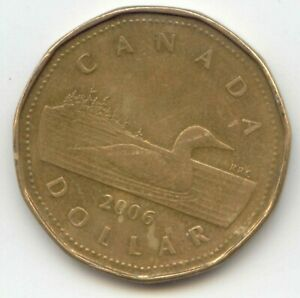 CANADA 2006 LOONIE MINT MARK CANADIAN ONE DOLLAR COIN EXACT COIN SHOWN