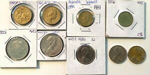 AUSTRALIAN 9 COIN LOT $2 $1 20C 10C. AWESOME COLLECTION FILLERS  AU CONDITION