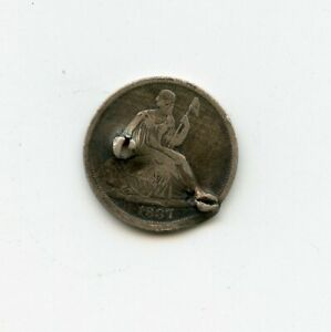1837 US SILVER SEATED HALF DIME 1ST YEAR OF ISSUE CHEAP