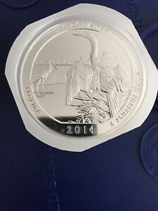 Click now to see the BUY IT NOW Price! 2014 AMERICA THE BEAUTIFUL 5 OZ SILVER FLORIDA EVERGLADES ROLL   50 OZ SILVER