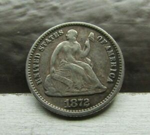 1872 DOUBLE DIE DDO FS 101   VF    SEATED LIBERTY HALF DIME   DRASTIC DOUBLING