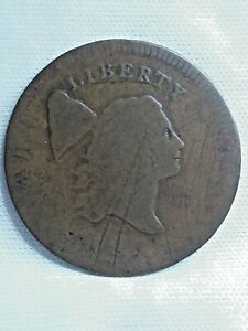 1795 LIBERTY CAP HALF CENT STRUCK ON TALBOT & LEE CENT