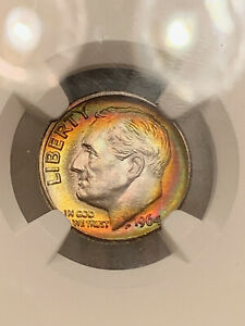 Click now to see the BUY IT NOW Price! 1964 D ROOSEVELT 10C NGC MS67   STAR FT  POP 2/1