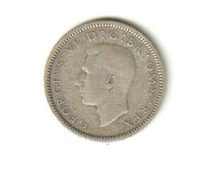 1939   SILVER COIN   SIXPENCE   6D COIN   KING GEORGE VI   GREAT BRITAIN