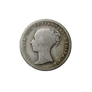 GREAT BRITAIN 1840 QUEEN VICTORIA SILVER THREEPENCE COIN 3P KM730