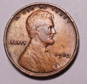 1910 P LINCOLN WHEAT CENT PENNY    NOT STOCK PHOTOS