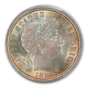 Click now to see the BUY IT NOW Price! 1895 10C BARBER DIME PCGS MS67   CAC