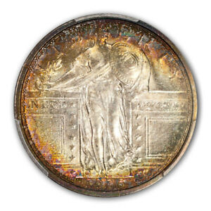 Click now to see the BUY IT NOW Price! 1916 25C STANDING LIBERTY QUARTER PCGS MS66 FH