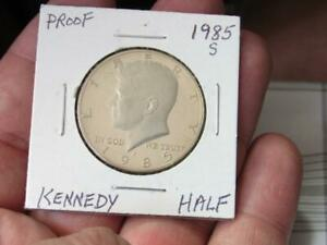 AWESOME 1985S 1985 S HALF DOLLAR COIN PROOF GOOD SHAPE  19F2