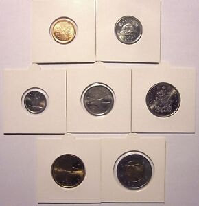 CANADA   SET OF 7 COINS  2011  UNC