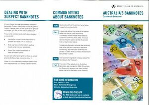 AUSTRALIA RBA $50 REVISED COUNTERFEIT PAMPHLET  LAST POLYMER DESIGN SERIES ISSUE