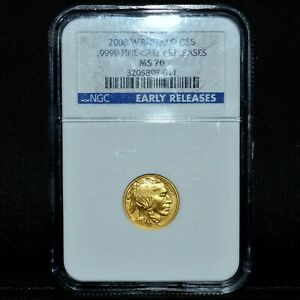 2008 W $5 GOLD AMERICAN BUFFALO  NGC MS 70  1/10 .9999 EARLY RELEASE TRUSTED