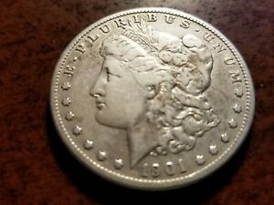 1901 S MORGAN SILVER DOLLAR TOUGH DATE    ZW05   AR515