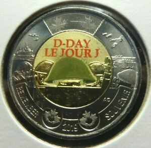 CANADA 2019 2 $ TWO DOLLAR 75TH D DAY LE JOUR J  COLOUR BU
