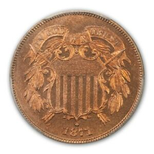 Click now to see the BUY IT NOW Price! 1871 2C TWO CENT PIECE PCGS PR66 RD  CAC