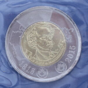 CANADA 2015 SIR JOHN A MACDONALD   TOONIE  2$  BUSINESS STRIKE FROM MINT PACK